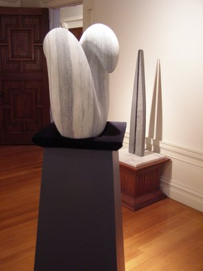 Phil Parkes Artwork When Two Worlds Collide  White and green Marble, 2007 Stone Sculpture, Abstract