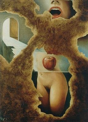 Erotic Oil Painting by Philip Hallawell Title: The Liberation of Eve 1, created in 1984