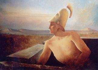 Philip Hallawell: 'The Sentry', 1986 Oil Painting, Mythology.