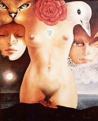 Erotic Oil Painting by Philip Hallawell Title: Woman III, created in 1979