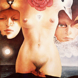 Philip Hallawell: 'Woman III', 1979 Oil Painting, Erotic. Artist Description: This painting was done on canvas applied to wood and is a tribute to Woman. It is not for sale....