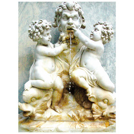 Marilyn Nosewicz: 'Cherubs Statue Fish Fountain Color Photograph', 2010 Color Photograph, Ethereal. Artist Description:  Photograph of fountain with water, located at Sonnenberg Gardens in Finger Lakes region of NY. Color Photograph of Marble statues. Please Email Me for any questions.         ...