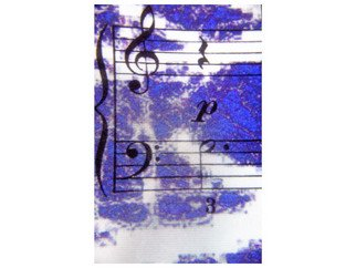 Marilyn Nosewicz Artwork Music Blue Notes Color Photography, 2010 Color Photograph, Abstract