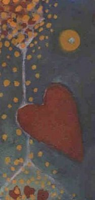Marilyn Nosewicz Artwork Red Heart Small Tree Drawing On Pastel Paper, 2010 Other Drawing, Love