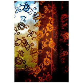 Marilyn Nosewicz: 'Window Colorful Curtain Twilight Color Photograph', 2011 Color Photograph, Architecture. Artist Description:  Curtain at twilight. Color Photograph. Other sizes available. Email me please. Thank you ...