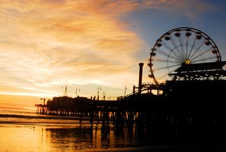Timothy Oleary: 'Sunset at Santa Monica', 2008 Other Photography, Travel.  This is a once in a lifetime sunset at the Santa Monica Pier ...
