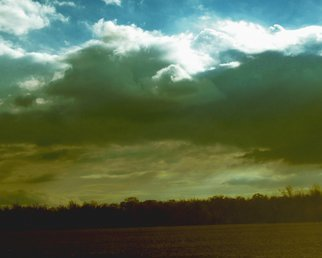 C. A. Hoffman: 'Approaching Storm in Fremont Ohio', 2010 Color Photograph, Landscape.  This an original photo that has been digitally- enhanced to create an original work of art.                                                                                                                        ...