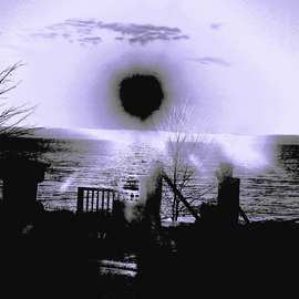 C. A. Hoffman Artwork Black Hole Bay, 2010 Color Photograph, Abstract Landscape