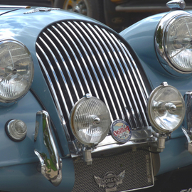 C. A. Hoffman: 'Blue Heaven 1961 Morgan', 2009 Color Photograph, Automotive. Artist Description:  This is an original photo of a blue, 1961 British- made Morgan.All original pieces come in sizes up to 16x20 inches.  ...
