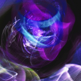C. A. Hoffman: 'Blue Mobius Entanglement', 2009 Color Photograph, Abstract.
