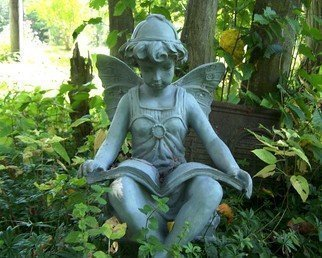 Artist: C. A. Hoffman - Title: Blue Studious Angel - Medium: Color Photograph - Year: 2008
