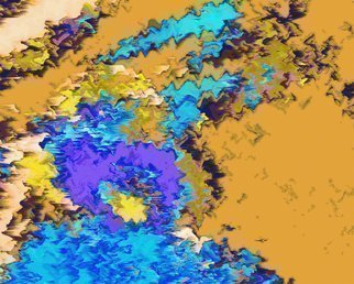 C. A. Hoffman: 'Blue Wind On the Sahara', 2010 Color Photograph, Abstract Landscape. Artist Description:  This is an original photo that has been digitally- painted to create an original work of art.                                                                                                                    ...