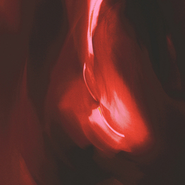 C. A. Hoffman: 'Edens Red Downfall', 2009 Color Photograph, Abstract.