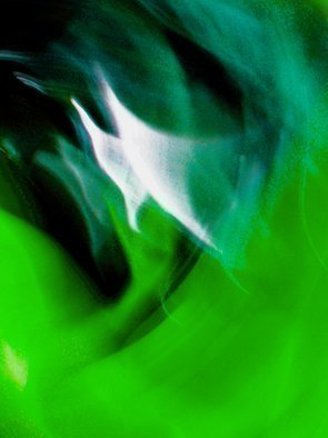 Color Photograph by C. A. Hoffman titled: Green Sailing in Space, created in 2009