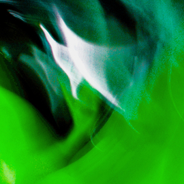 C. A. Hoffman Artwork Green Sailing in Space, 2009 Color Photograph, Abstract