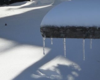 C. A. Hoffman: 'Icicles And Shadows', 2010 Color Photograph, Abstract Landscape. Artist Description:   This is an original photo that has been digitally- painted to create an original work of art.                                                                                                              ...