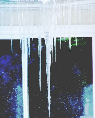 Color Photograph by C. A. Hoffman titled: Icy Daggers, created in 2009