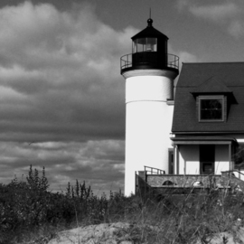 C. A. Hoffman Artwork Lighthouse at Sleeping Bear Dunes II, 2008 Black and White Photograph, Landscape