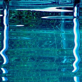 C. A. Hoffman: 'Liquid Blue Dreams', 2008 Color Photograph, Abstract. Artist Description:  Blue, wet and cool,  dreams can be so much more.  This photo was taken in a nearby location and digitally enhanced to create the dreamy quality.  ...