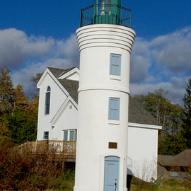 C. A. Hoffman: 'Lonely Lighthouse II', 2009 Color Photograph, Landscape. Artist Description:  Another view of the lonely lighthouse in the Traverse City Bay area. ...