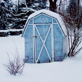 C. A. Hoffman: 'Lonesome Winter Blues', 2009 Color Photograph, Landscape. Artist Description:  Lonesome and all alone on a very cold day.  Took this while scouting for some shots out back after a heavy snowfall. All photos are available in sizes up to 16x20 inches. ...