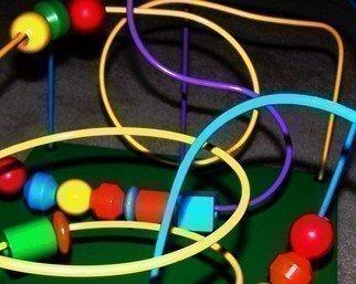 C. A. Hoffman Artwork Neon Loop de Loop, 2008 Neon Loop de Loop, Abstract Figurative