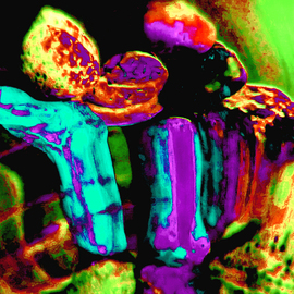 C. A. Hoffman: 'Nexiums Colorful Nightlife Fauna', 2009 Color Photograph, Abstract.
