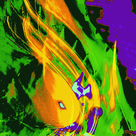 C. A. Hoffman: 'Nexiums Deadly Fireball', 2009 Color Photograph, Abstract.