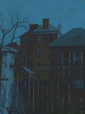 Color Photograph by C. A. Hoffman titled: Night at The Asylum II, created in 2009