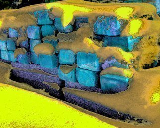 C. A. Hoffman Artwork Nights Blue Tastiness, 2011 Color Photograph, Abstract Landscape