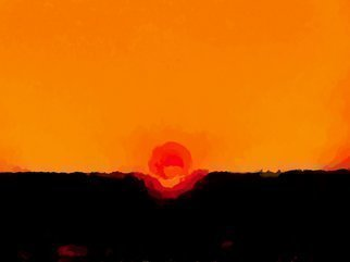 C. A. Hoffman Artwork Orange Sky Delight, 2009 Orange Sky Delight, Abstract Landscape