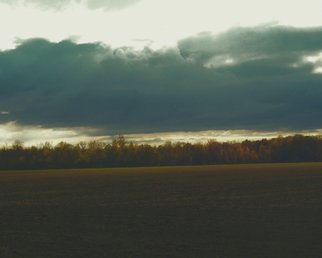 C. A. Hoffman: 'Passing Storm In Fremont Ohio', 2010 Color Photograph, Landscape.  This an original photo that has been digitally- enhanced to create an original work of art.                                                                                                                         ...