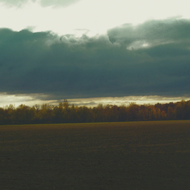 C. A. Hoffman: 'Passing Storm In Fremont Ohio', 2010 Color Photograph, Landscape. Artist Description:  This an original photo that has been digitally- enhanced to create an original work of art.                                                                                                                         ...