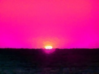 Color Photograph by C. A. Hoffman titled: Pink Sky At Night, created in 2009