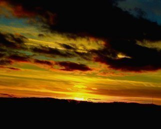 Color Photograph by C. A. Hoffman titled: Red Sky Sailors Delight, created in 2008