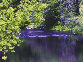 C. A. Hoffman: 'Reflection In Purple', 2010 Color Photograph, Abstract Landscape. Artist Description:  This is an original photo that has been digitally- painted to create an original work of art.                                           ...