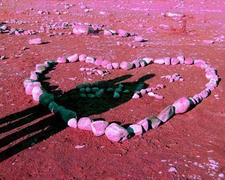 Color Photograph by C. A. Hoffman titled: Rock Solid Pink Love, created in 2009