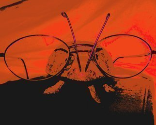 Color Photograph by C. A. Hoffman titled: Rojo Renee the Book Bug, 2008