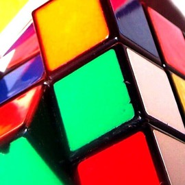 C. A. Hoffman: 'Rubes Delima', 2008 Color Photograph, Abstract. Artist Description:  Part of my rubix cube series created for that special child....