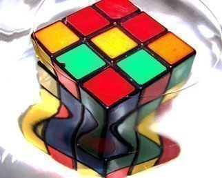 Color Photograph by C. A. Hoffman titled: Rubix Meltdown, created in 2008