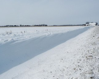 C. A. Hoffman Artwork Sandusky County Winter, 2011 Color Photograph, Abstract Landscape
