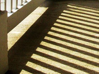 Color Photograph by C. A. Hoffman titled: Shadow Stairs, created in 2008