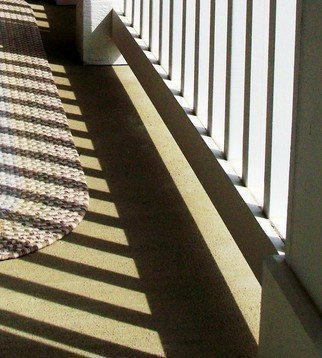 Color Photograph by C. A. Hoffman titled: Shadows Meet Rug, created in 2008