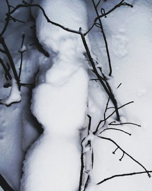 C. A. Hoffman Artwork She Sleeps In White Winter Quiet, 2010 Color Photograph, Abstract Landscape