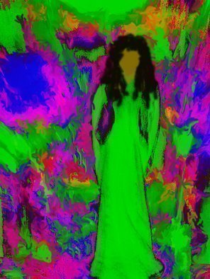 Color Photograph by C. A. Hoffman titled: Sixties Flashback Angel, created in 2008