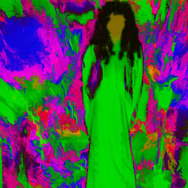 C. A. Hoffman Artwork Sixties Flashback Angel, 2008 Color Photograph, Abstract