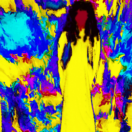 C. A. Hoffman Artwork Sixties Flashback Angel II, 2008 Color Photograph, Abstract