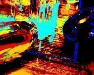 Artist: C. A. Hoffman - Title: Space Carnival III  Spilt Fuel - Medium: Color Photograph - Year: 2008
