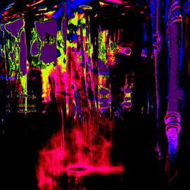 C. A. Hoffman: 'Space Carnival Teleportstation II', 2009 Color Photograph, Abstract. Artist Description:  Space Carnival II .  Just in time for teleporting off to another good time. ...