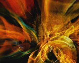 Color Photograph by C. A. Hoffman titled: String Theory Bosons Meet Color Waves, created in 2009